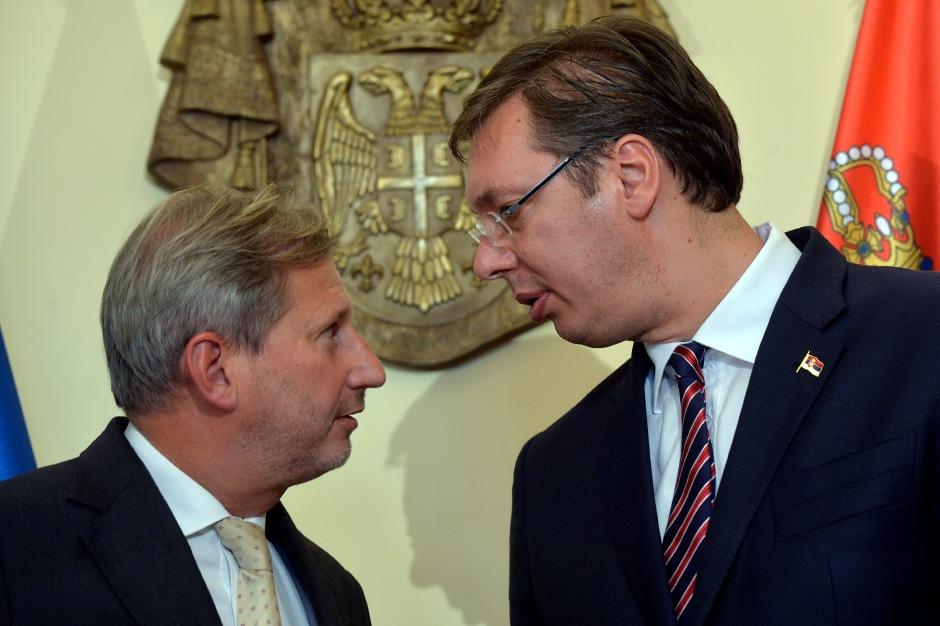 Johannes Hahn and Aleksandar Vučić