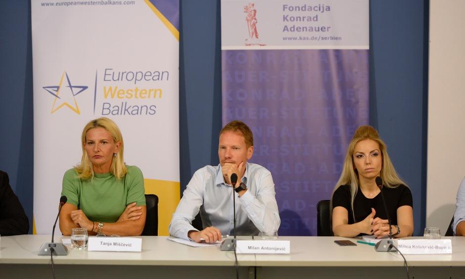 Tanja Miščević, Milan Antonijević and Milica Kolaković-Bojobić