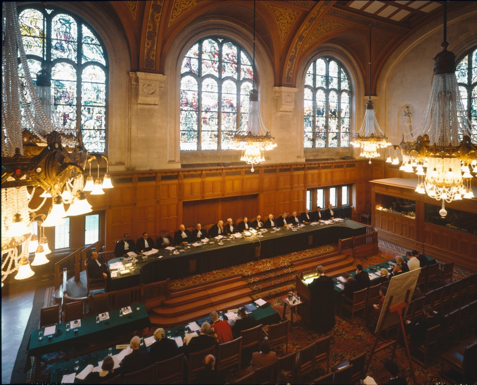 General view of the International Court of Justice (ICJ) in session; UN photo/Andrea Brizzi